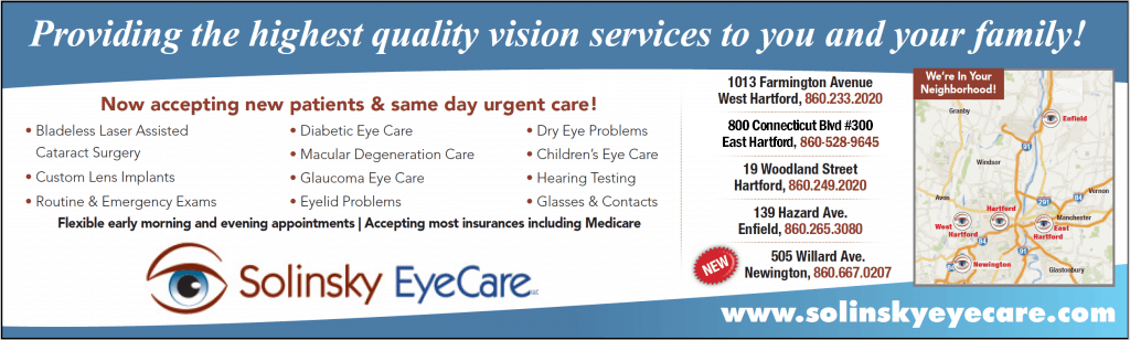 Eye care services in Hartford, CT